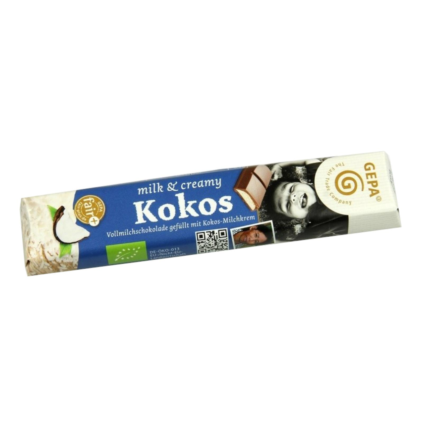 Gepa Čokoláda Bio Fairetta Kokos 37,5 g
