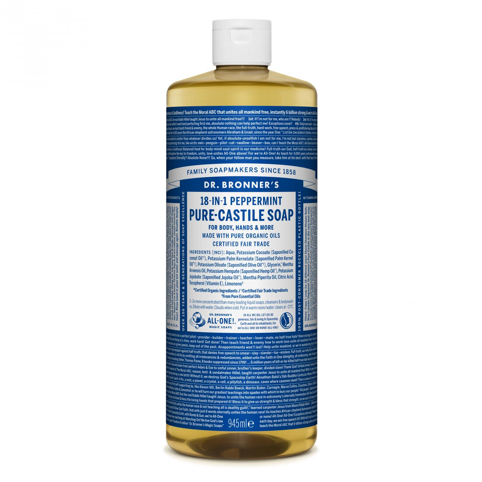 Dr. Bronner´s Tekuté universální mýdlo ALL-ONE!, Peppermint 946 ml