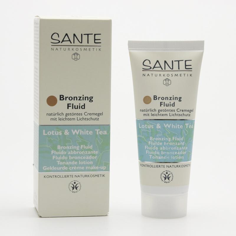 Santé Fluid bronzing, Lotos a bílý čaj 40 ml