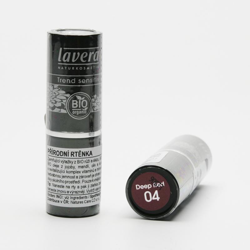 Lavera Rtěnka 04 tmavě červená, Trend Sensitive 4,5 g