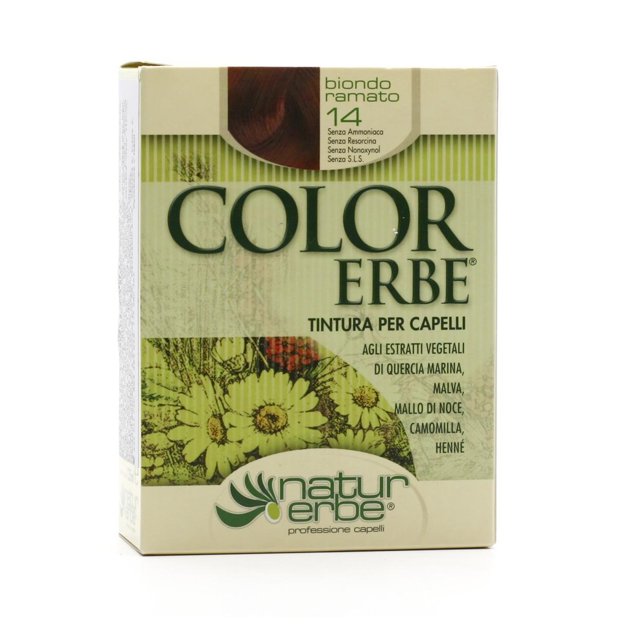Color Erbe Barva na vlasy Měděná blond 14, Natur 135 ml