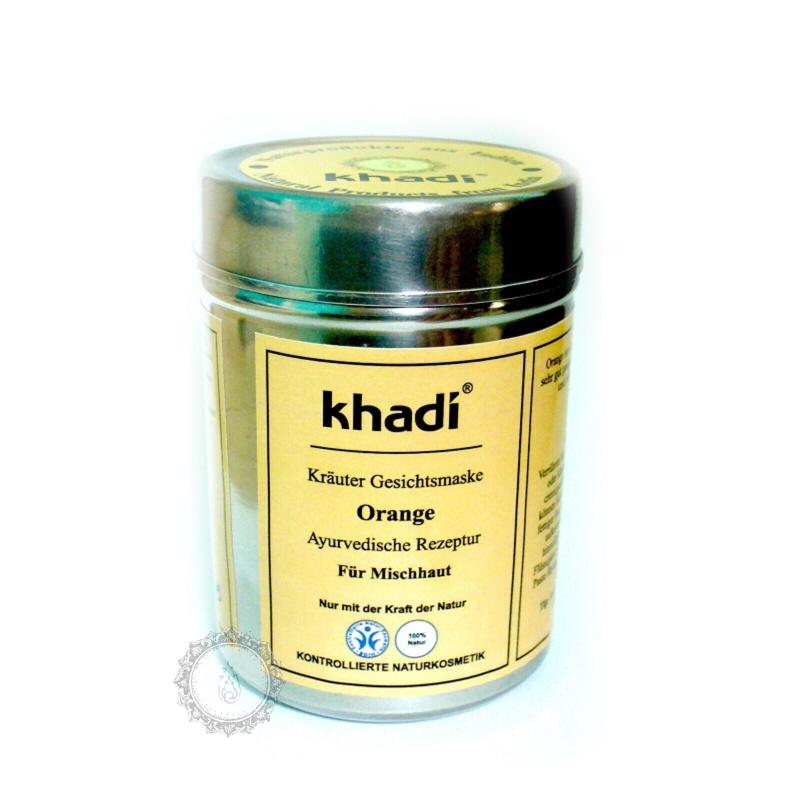 Khadí Pleťová maska Pomeranč 50 g