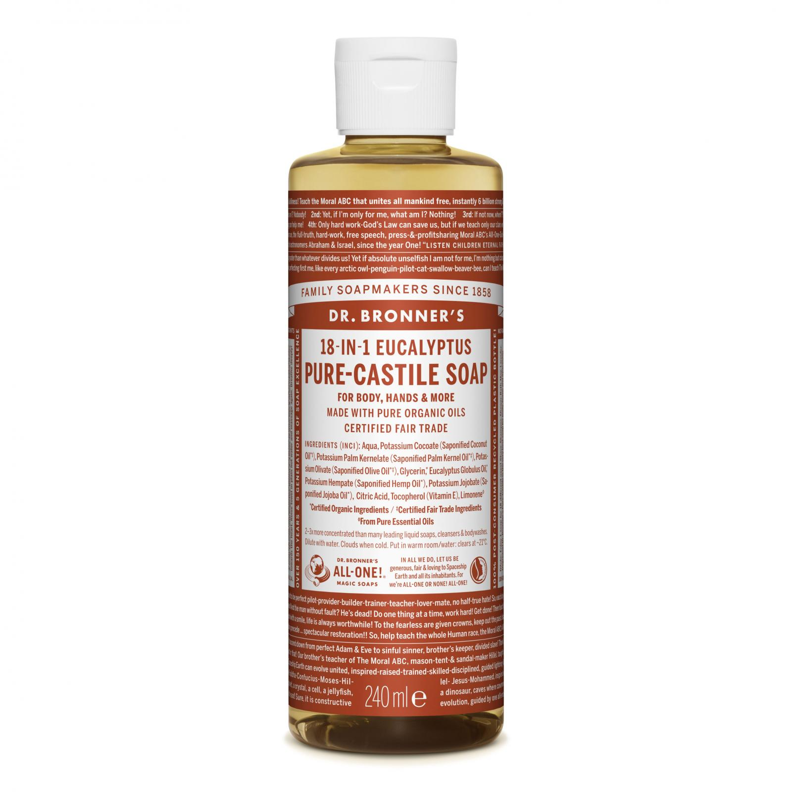Dr. Bronner´s Tekuté universální mýdlo ALL-ONE!, Eukalyptus 236 ml