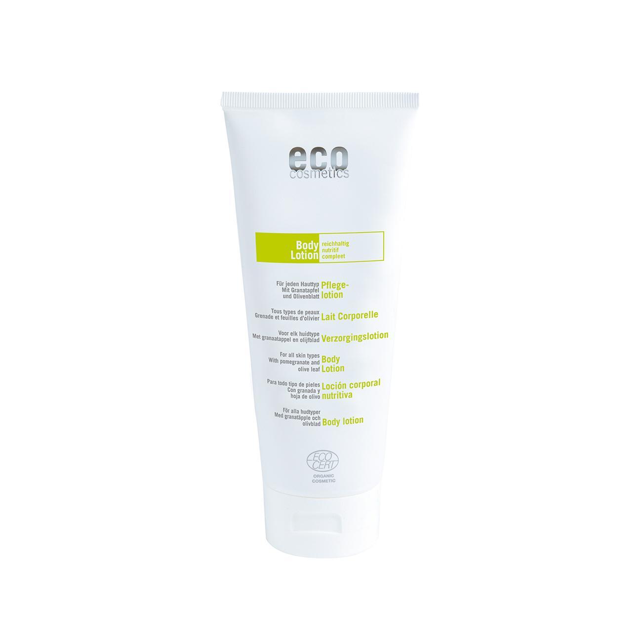 Eco Cosmetics Tělové mléko olivový list/granátové jablko 200 ml