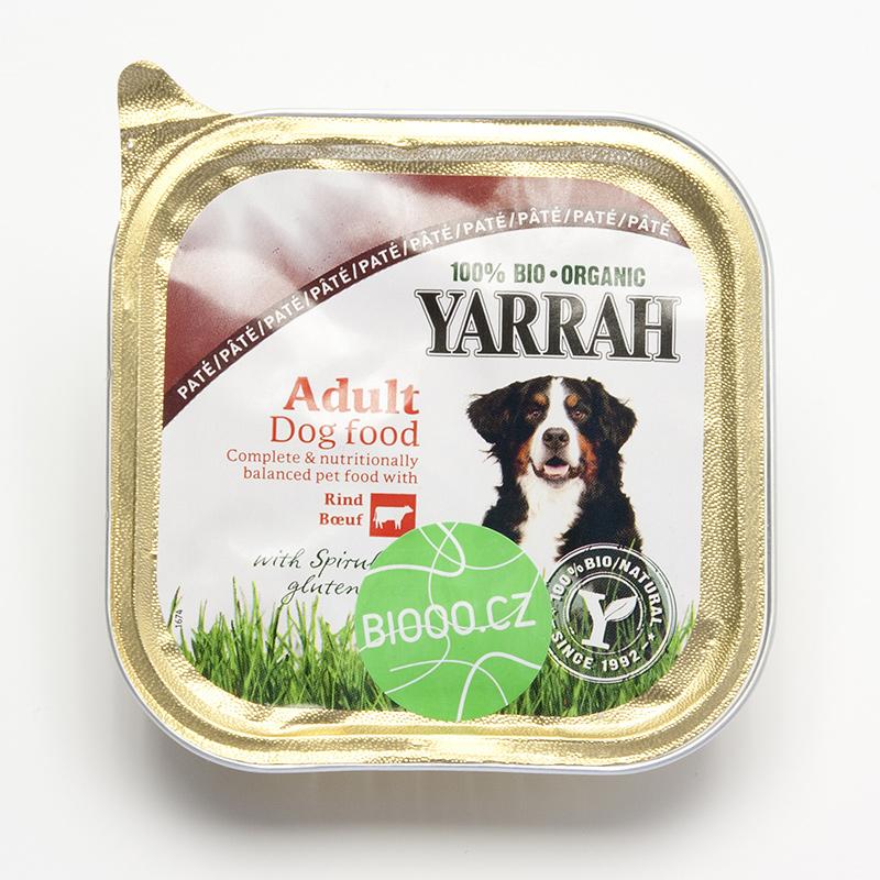 Yarrah Paté pro psy hovězí s řasou Spirulina, Wellness 150 g