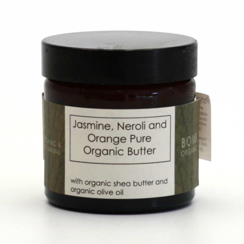 Bomb Cosmetics xxxVýprodej Pleťové máslo jasmín, neroli a pomeranč, Bomb Organi 60 ml