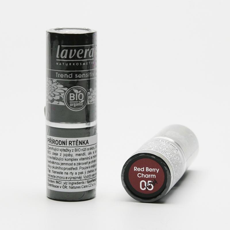 Lavera Rtěnka 05 třešňově červená, Trend Sensitive 4,5 g