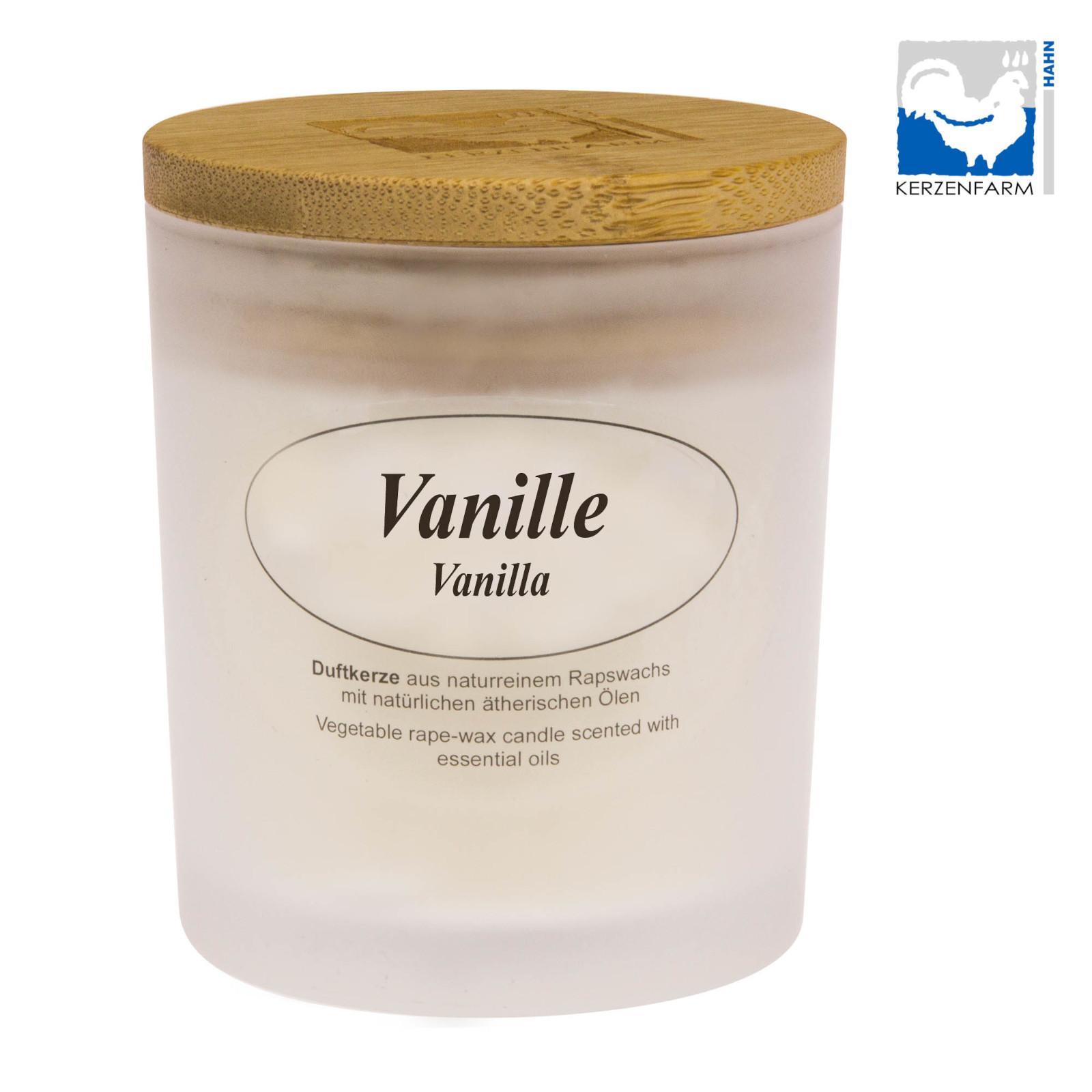 Kerzenfarm Přírodní svíčka Vanilla, mléčné sklo 8 cm