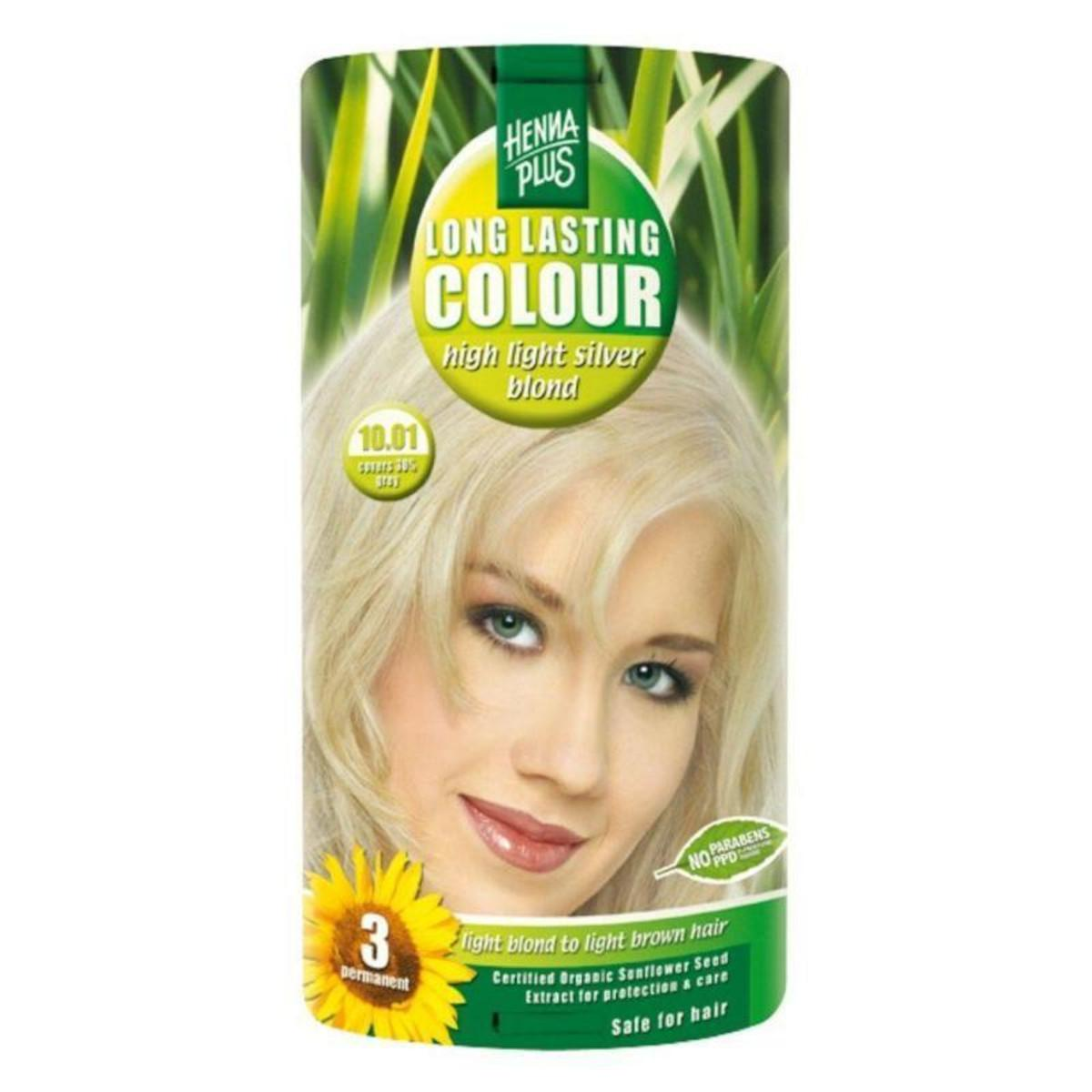 Henna Plus Dlouhotrvající barva Extra stříbrná blond 10.01 100 ml