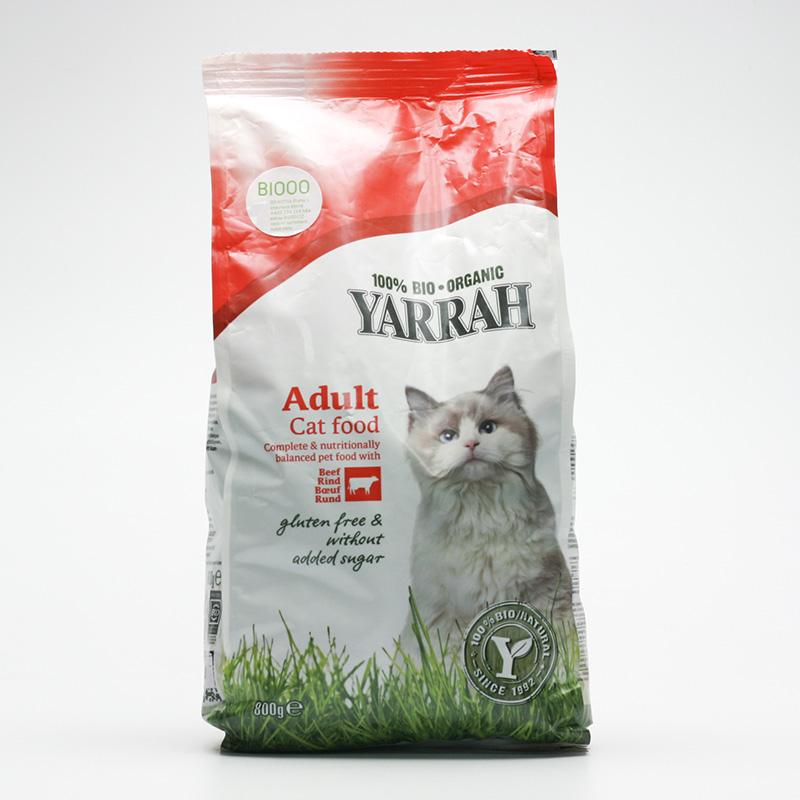 Yarrah Granule bezlepkové hovězí s bylinkami pro kočky 800 g