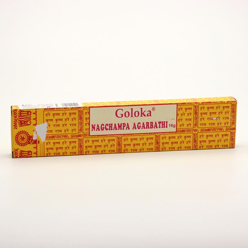 Goloka x Vonné tyčinky indické, Nag Champa Agarbathi 10 g