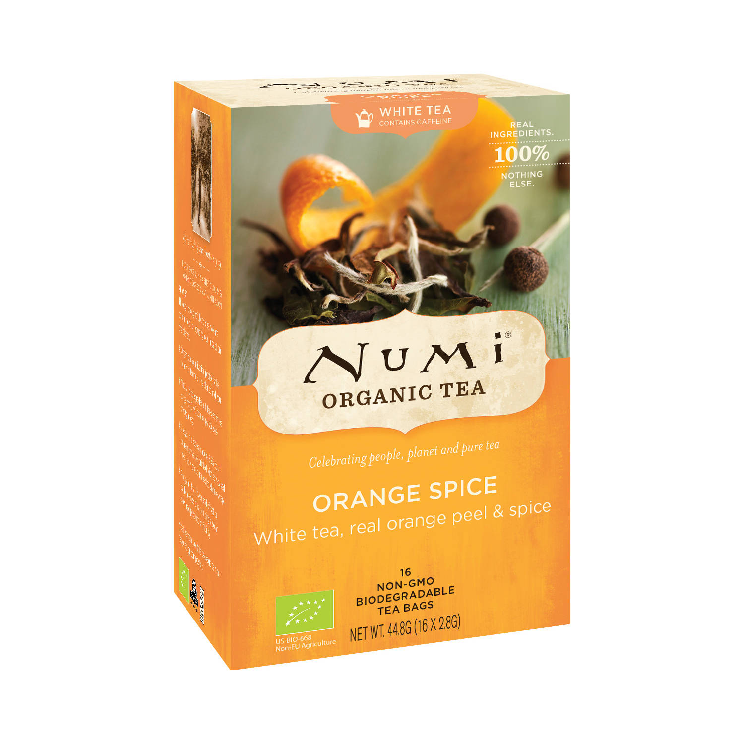 Numi Organic Tea Orange Spice, bílý čaj 44,8 g, 16 ks