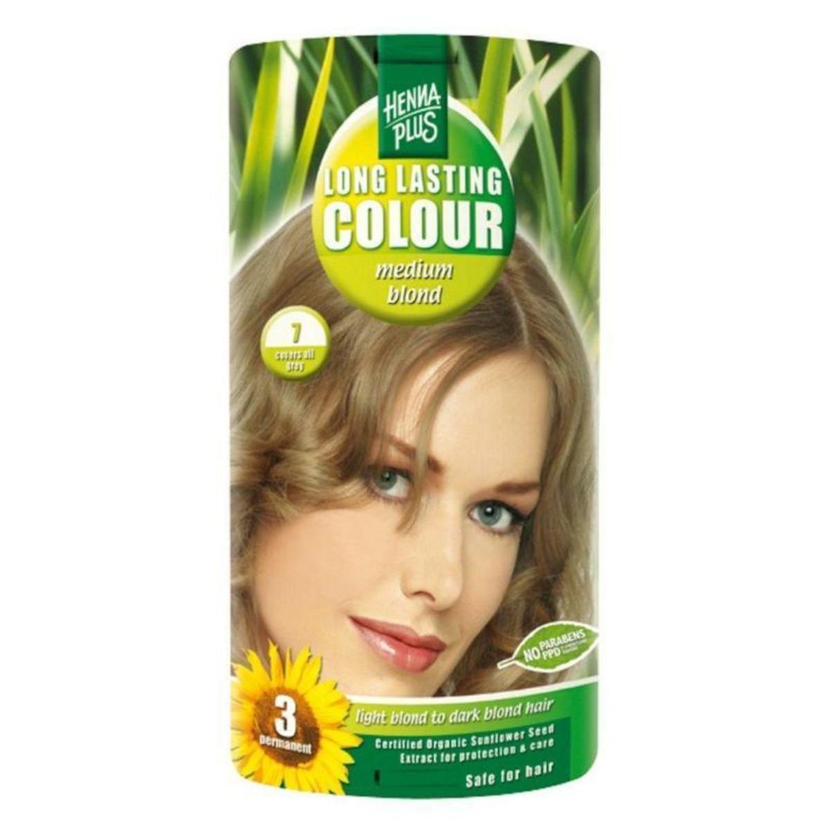 Henna Plus Dlouhotrvající barva Sytě blond 7 100 ml