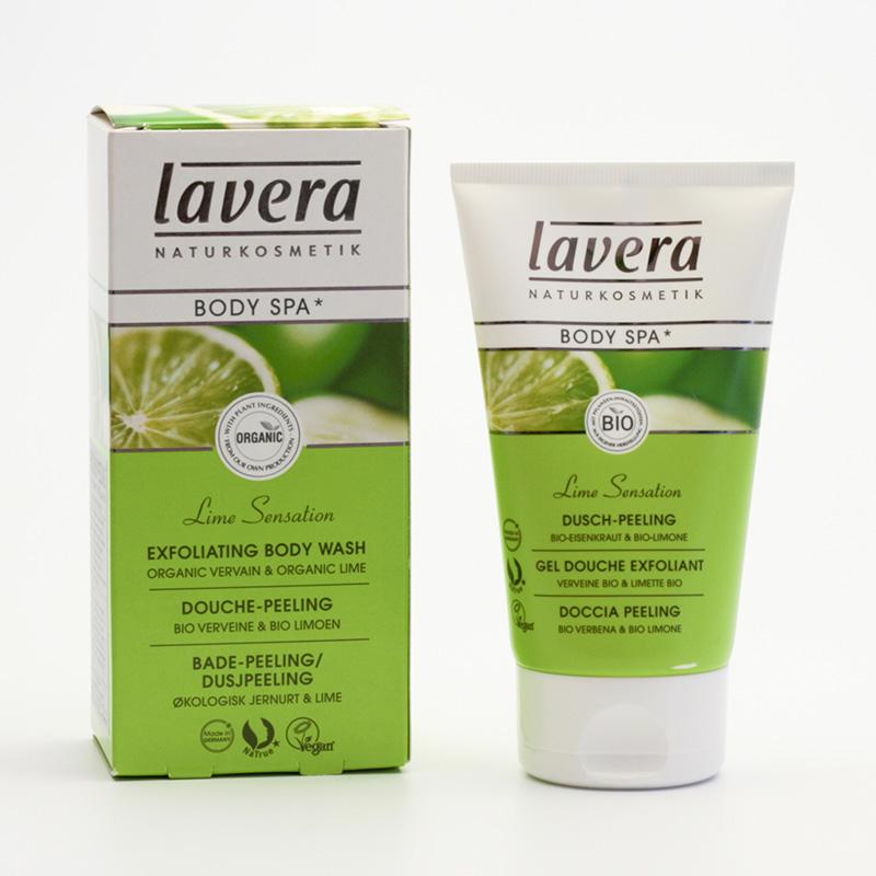 Lavera Tělový peeling verbena a limeta, Body Spa 150 ml