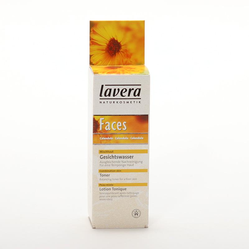 Lavera xxČistící pleťová voda měsíček, Faces 50 ml