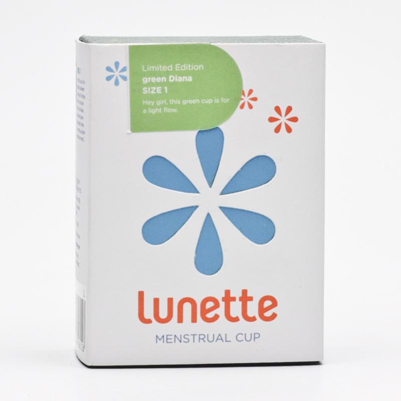 Lunette Menstruační kalíšek model 1 (menší), zelený - Diana 1 ks