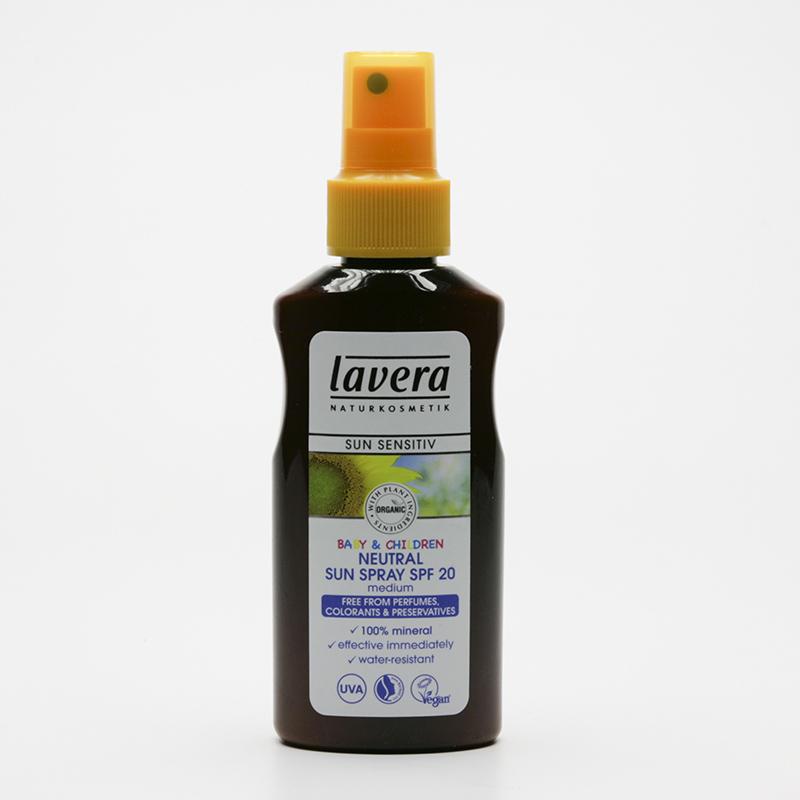 Lavera Mléko opalovací pro děti Neutral SPF 20 ve spreji, Sun Sensitive 125 ml