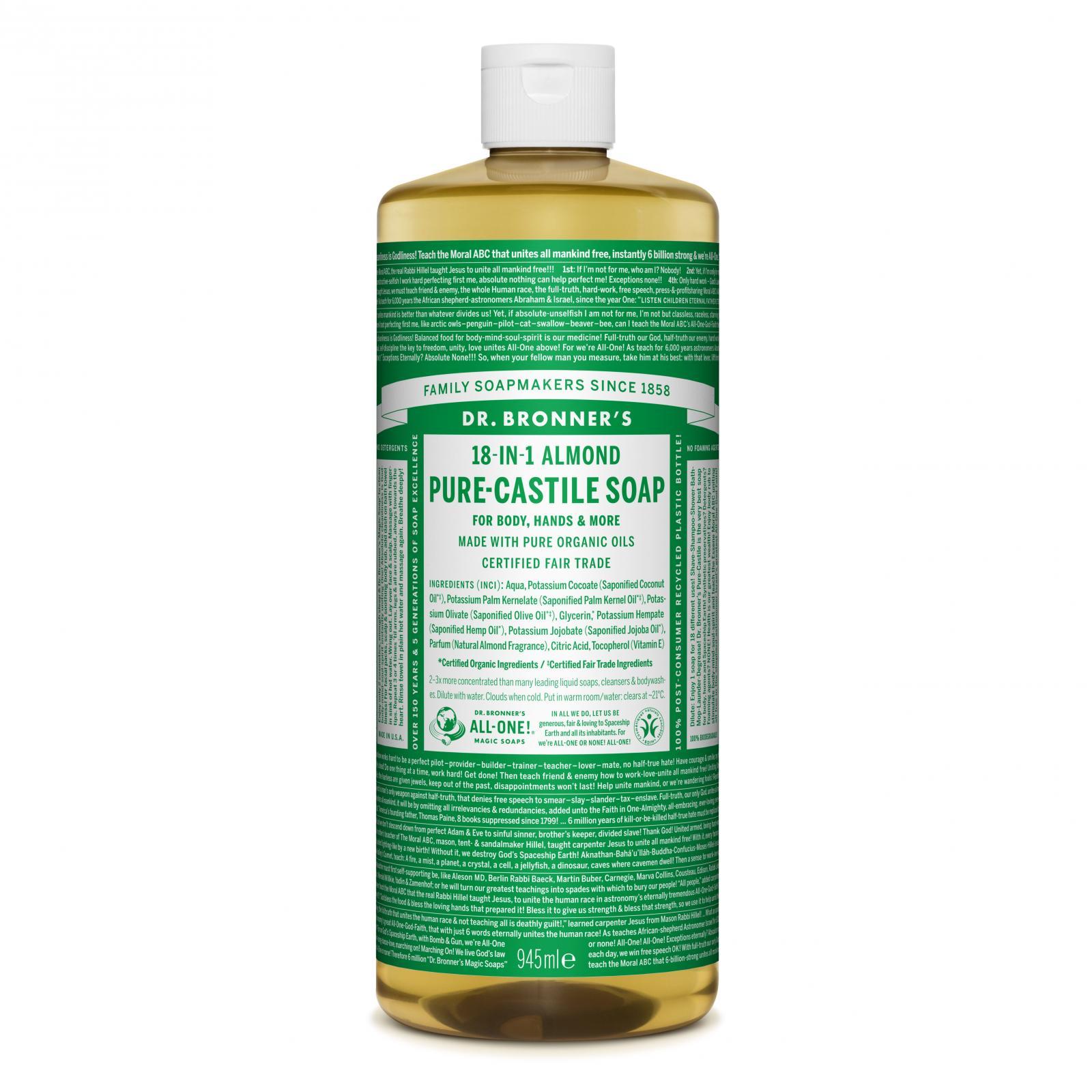 Dr. Bronner´s Tekuté universální mýdlo ALL-ONE!, Almond 945 ml