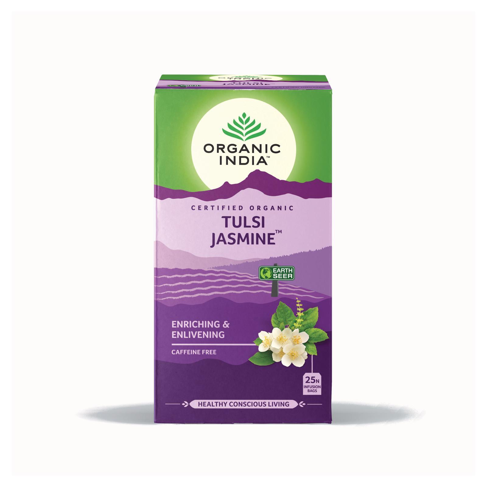 Organic India Čaj Tulsi Jasmine, porcovaný 18 ks, 30,6 g