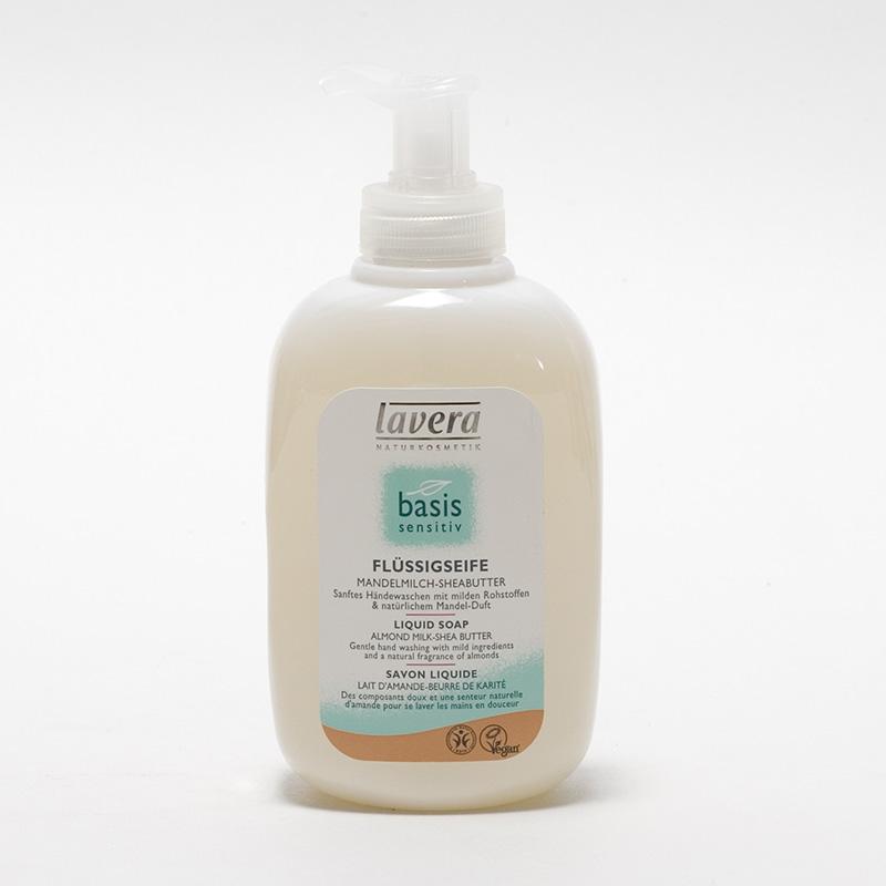 Lavera Výprodej Tekuté mýdlo mandlové s bambuckým máslem, Basis Sensiti 300 ml