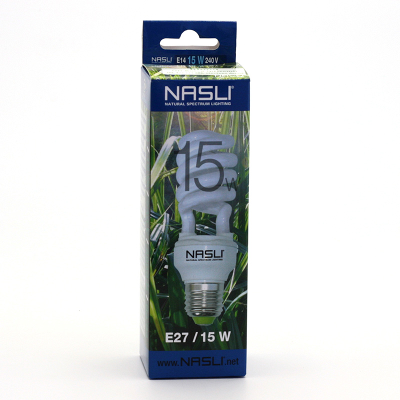 NASLI xxxVýprodej Kompaktní zářivka plnospektrální 15 W, E27 1 ks