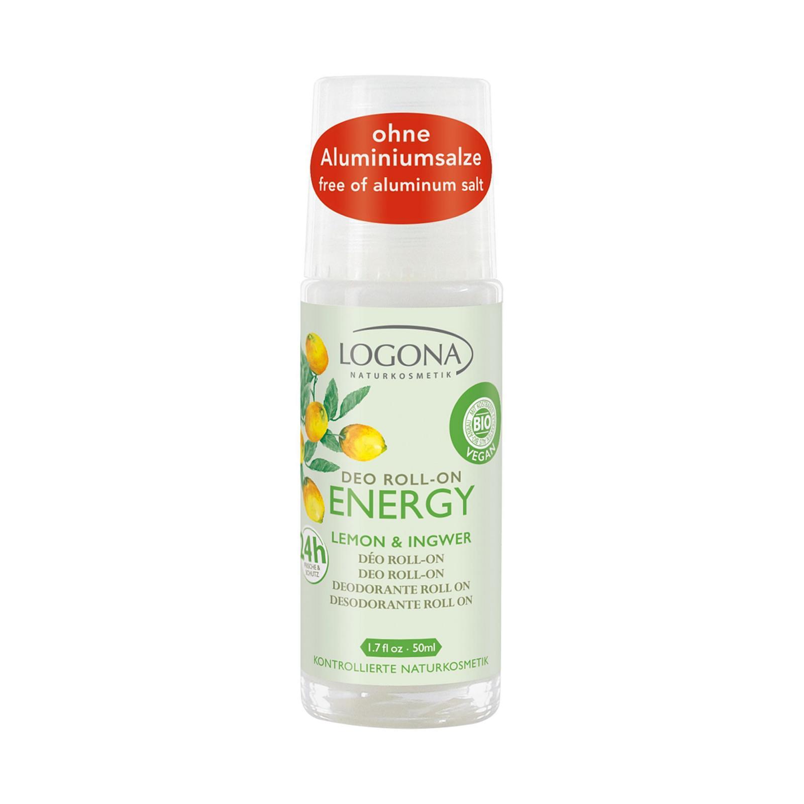 Logona Deo kulička citron a zázvor, Energy 50 ml