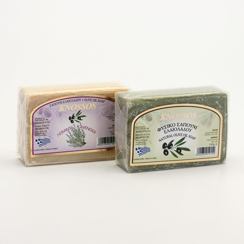 Knossos Mýdlo tuhé olivové, různé druhy 100 g