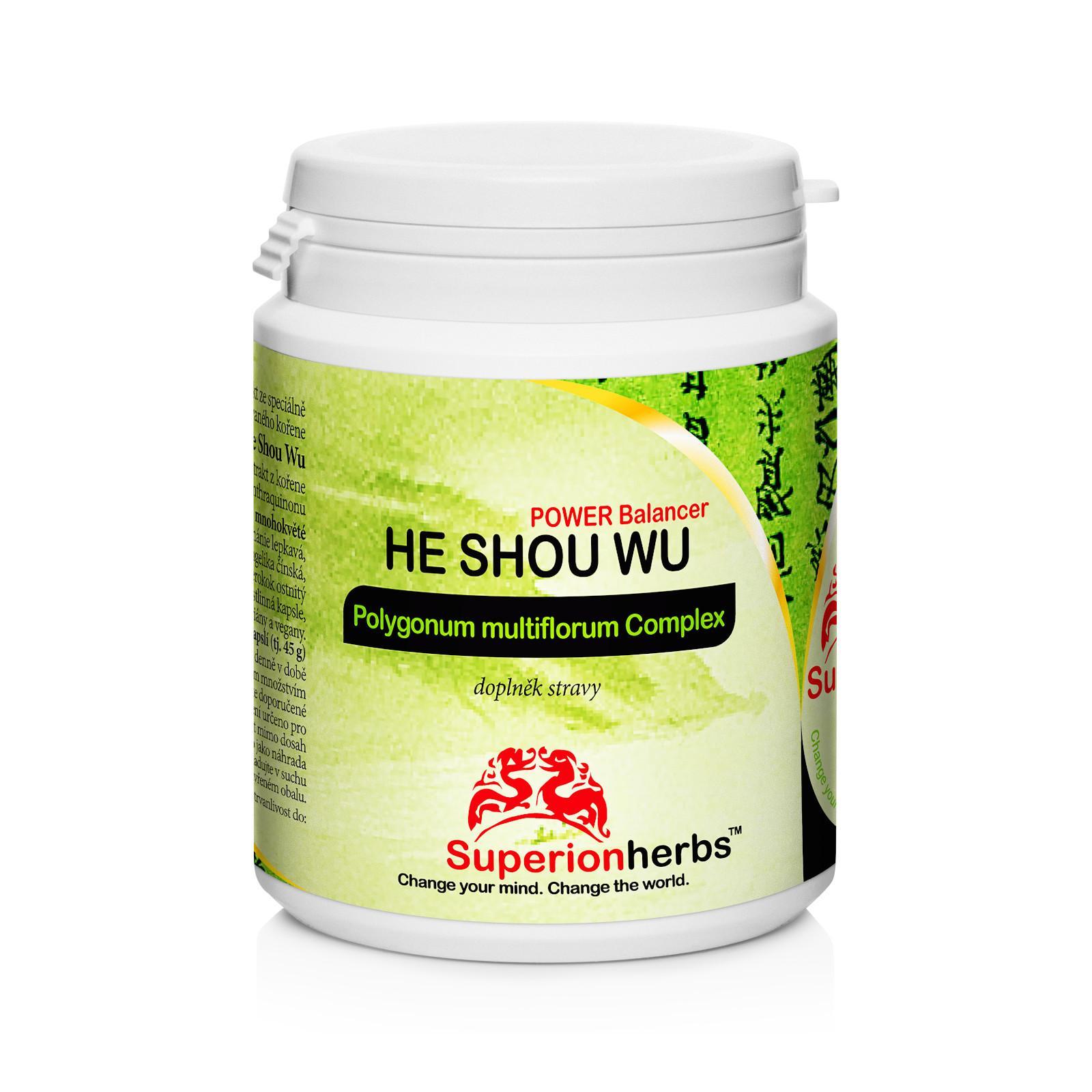 Superionherbs He Shou Wu, kapsle 90 ks, 45 g