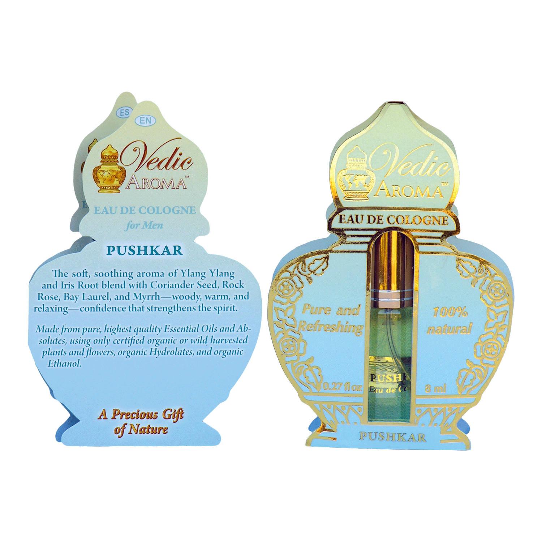 Vedic Aroma Ayurvédská kolínská voda Pushkar 8 ml, sprej