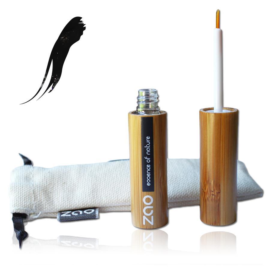 ZAO Tekuté oční linky 060 Black 6 ml bambusový obal