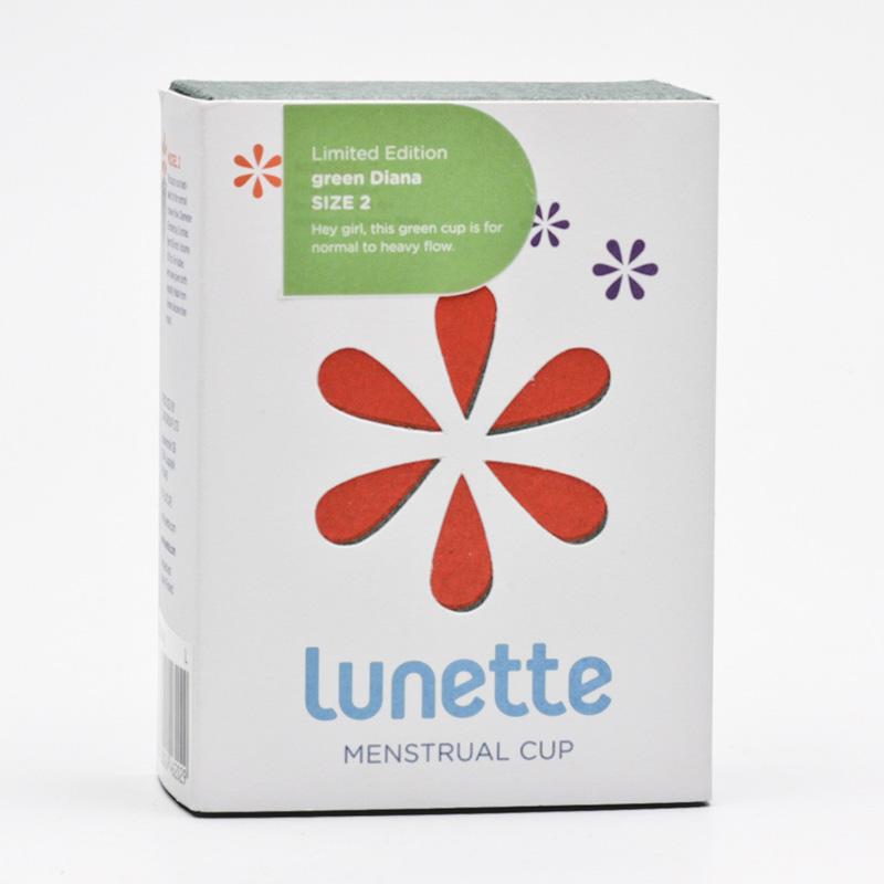 Lunette Menstruační kalíšek model 2 (větší), zelený - Diana 1 ks
