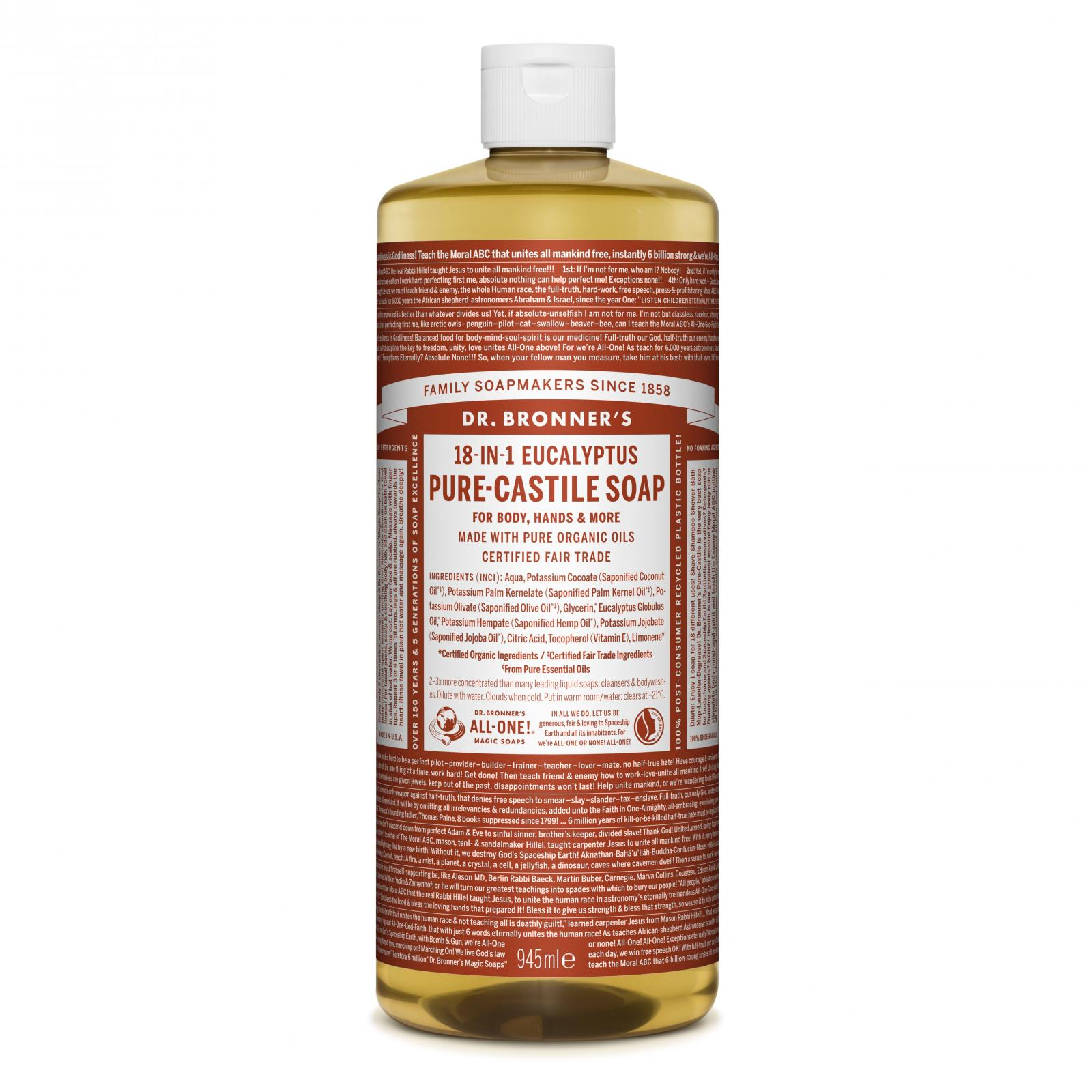 Dr. Bronner´s Tekuté universální mýdlo ALL-ONE!, Eukalyptus 946 ml