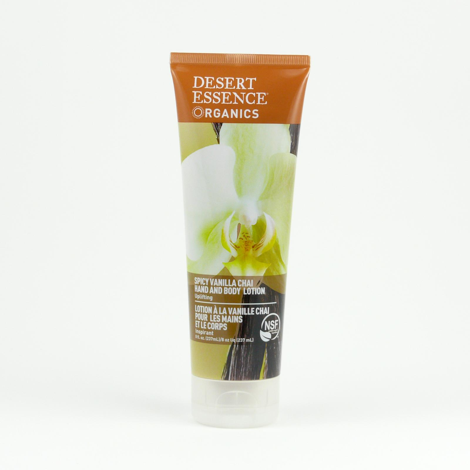 Desert Essence Tělové mléko a mléko na ruce vanilla chai 237 ml