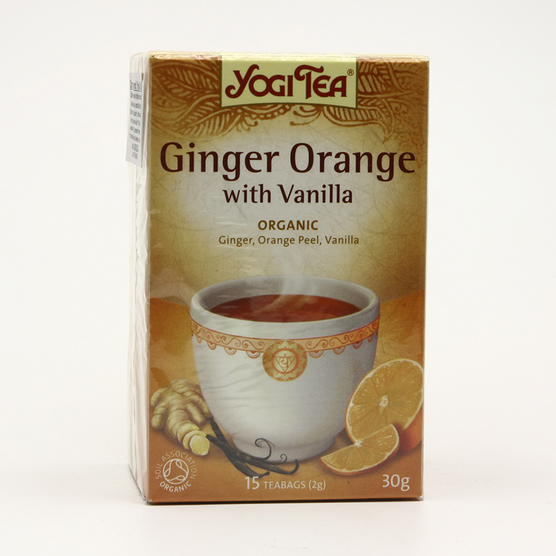Golden Temple Čaj Yogitea Ginger Orange Vanilla 17 ks, 30 g