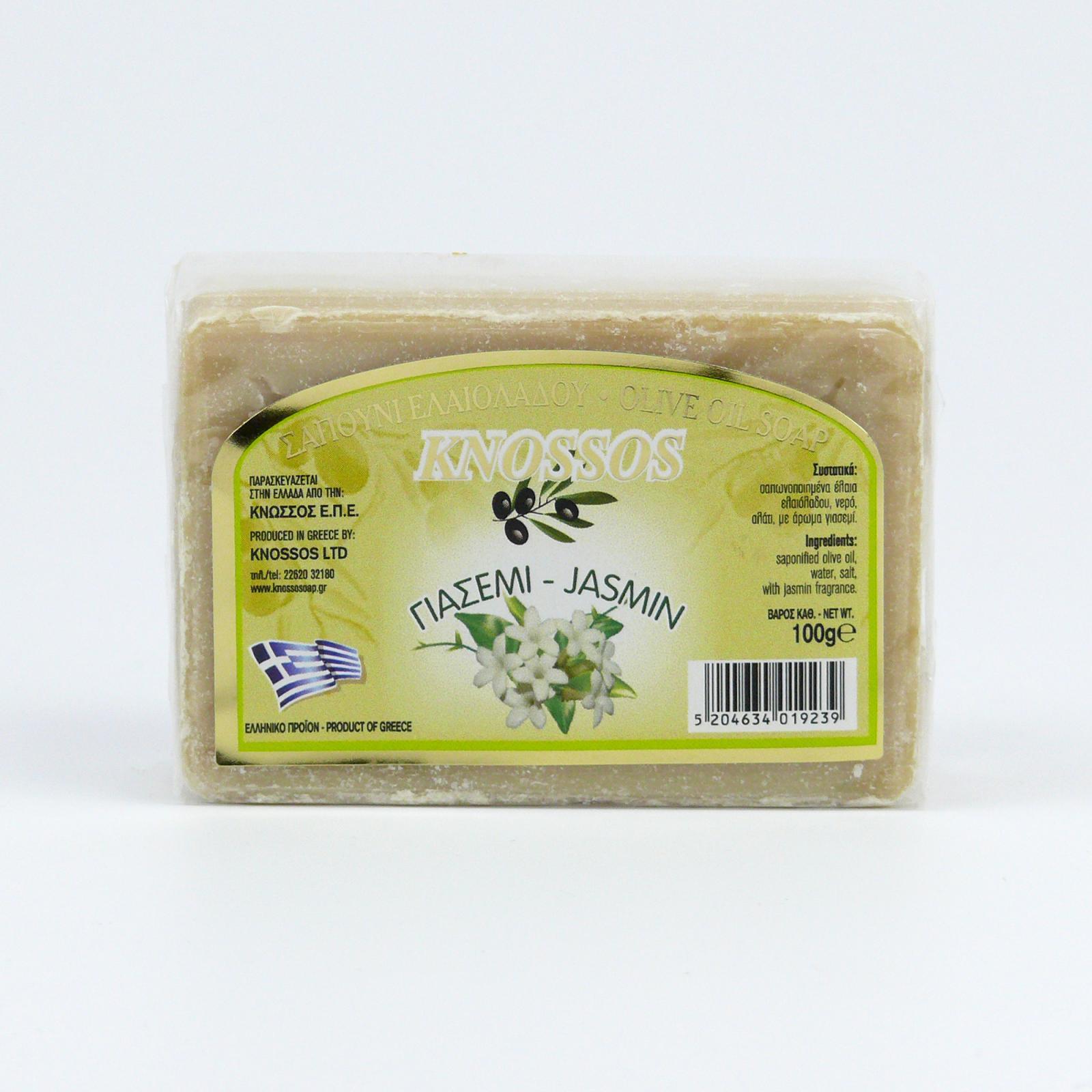 Knossos Mýdlo tuhé olivové, jasmín 100 g