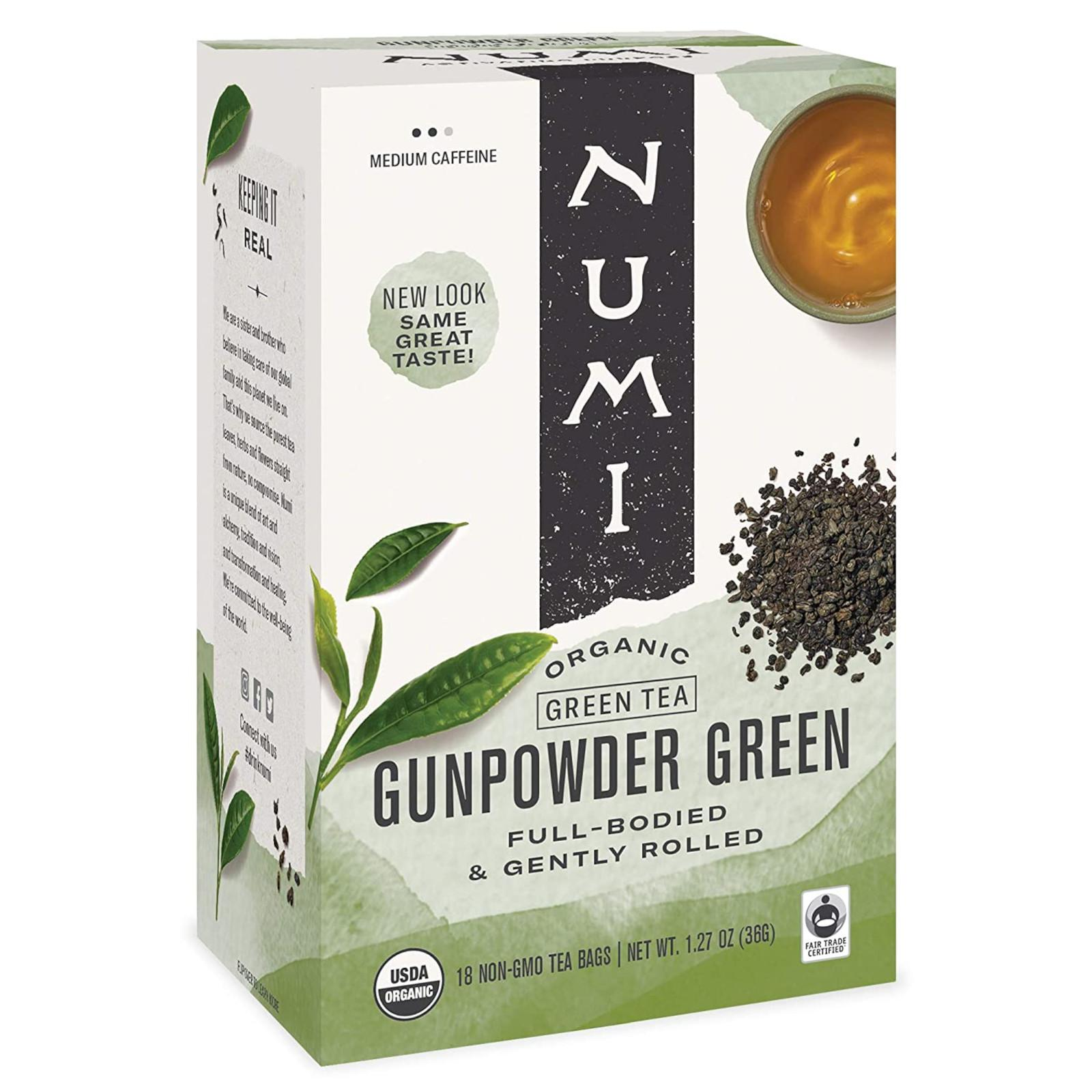 Numi Organic Tea Gunpowder Green, zelený čaj 36 g, 18 ks