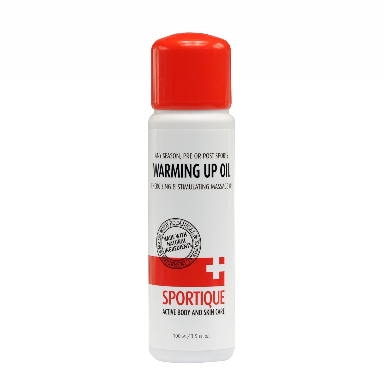 Sportique Hřejivý masážní olej 100 ml