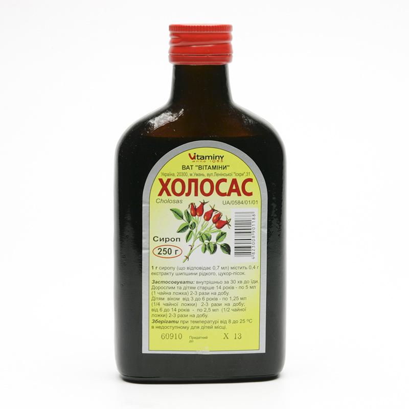 ostatní Šípkový sirup Cholosas 250 g