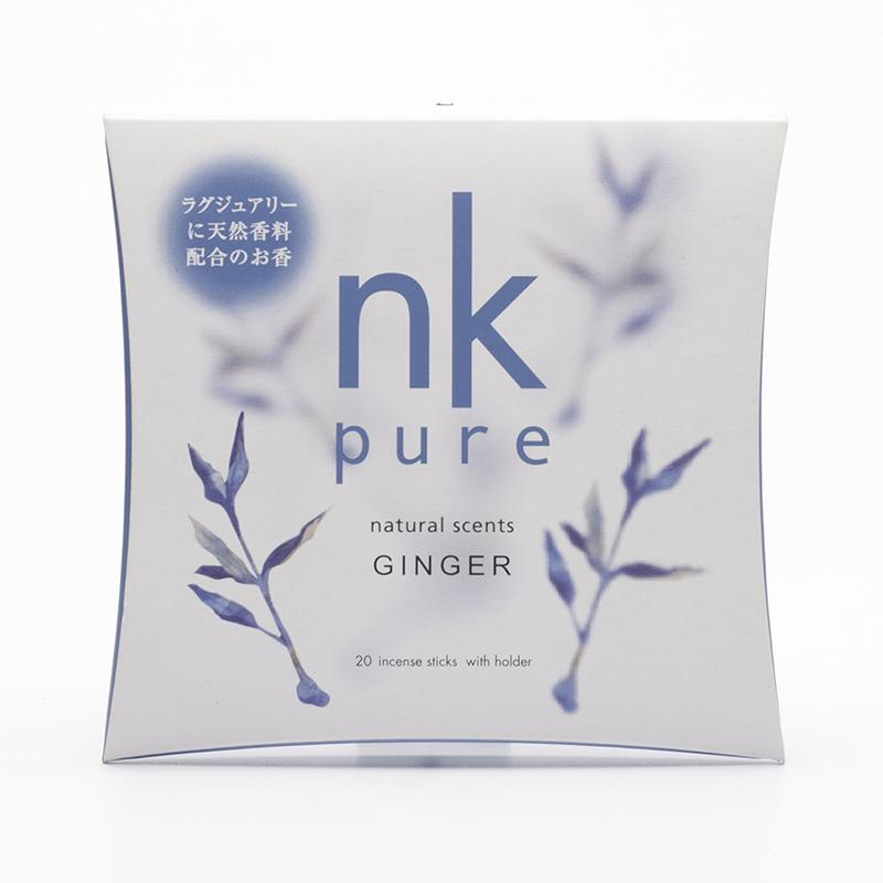 Nippon Kodo Vonné tyčinky japonské Pure Ginger 20 ks, stojánek