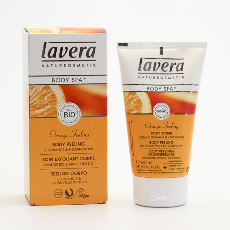 Lavera Tělový peeling pomeranč a rakytník, Body Spa 150 ml