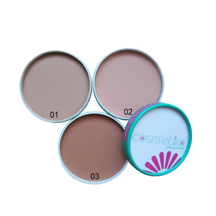 Cosm´etika Kompaktní make-up 02 tmavě béžová 9 g