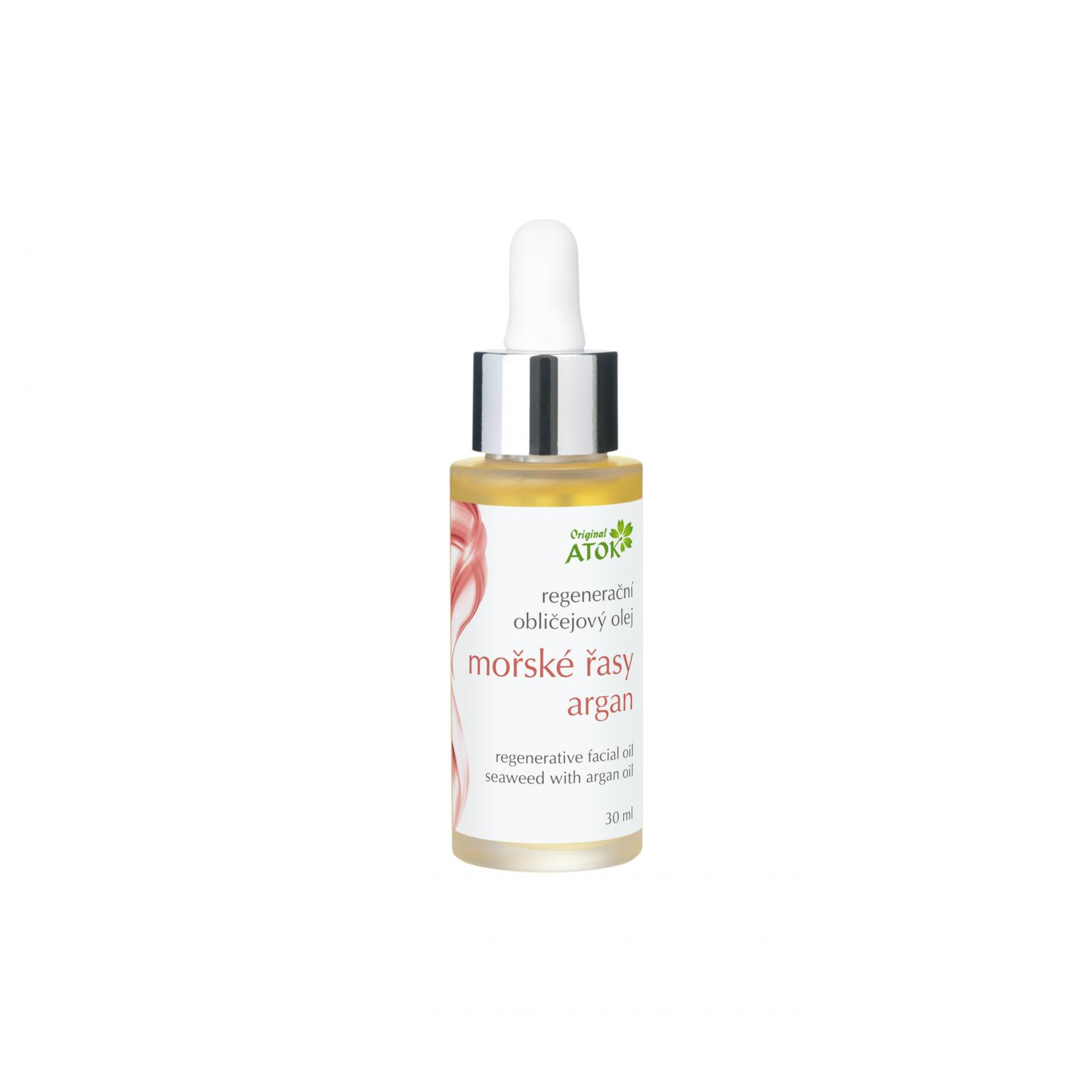 Original ATOK Regenerační obličejový olej Mořské řasy - argan 30 ml