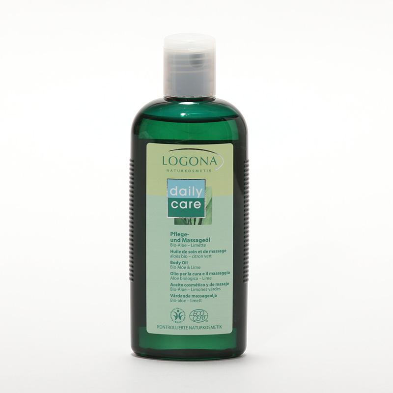 Logona Masážní olej aloe, limetka, Daily Care - vyřazen 200 ml