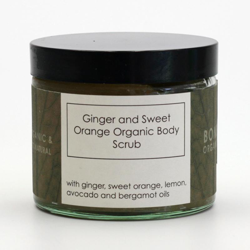Bomb Cosmetics xxxVýprodej Tělový peeling zázvor a sladký pomeranč, Bomb Organi 250 ml