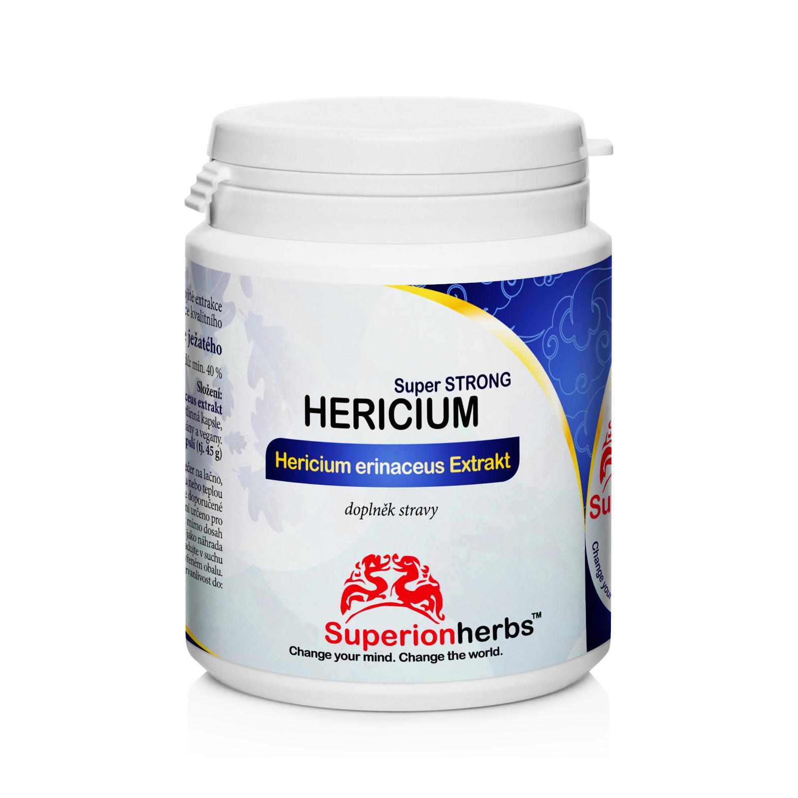 Superionherbs Hericium Lví hříva, kapsle 90 ks