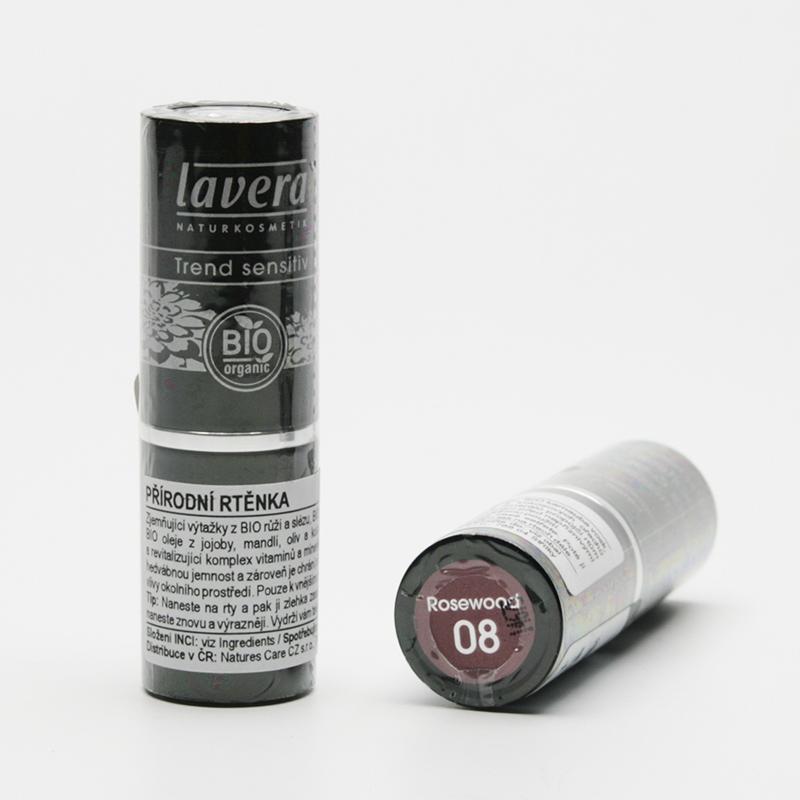 Lavera Rtěnka 08 růžové dřevo, Trend Sensitive 4,5 g
