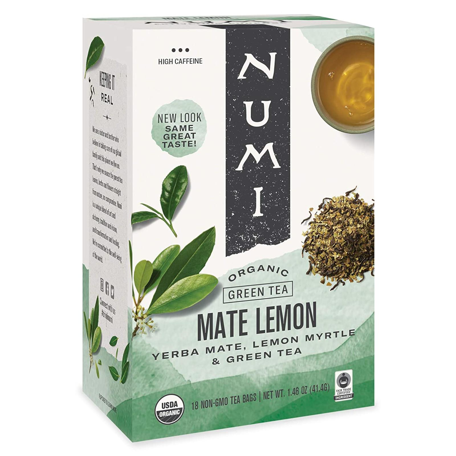 Numi Organic Tea Zelený čaj Mate Lemon Green 41,4 g, 18 ks