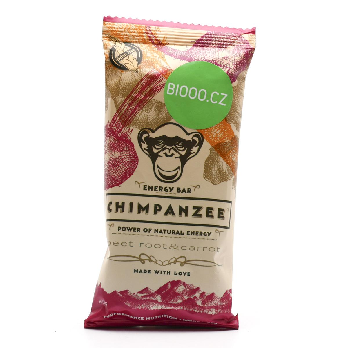 Chimpanzee Tyčinka Energy Beet Root - Carrot bar 55 g