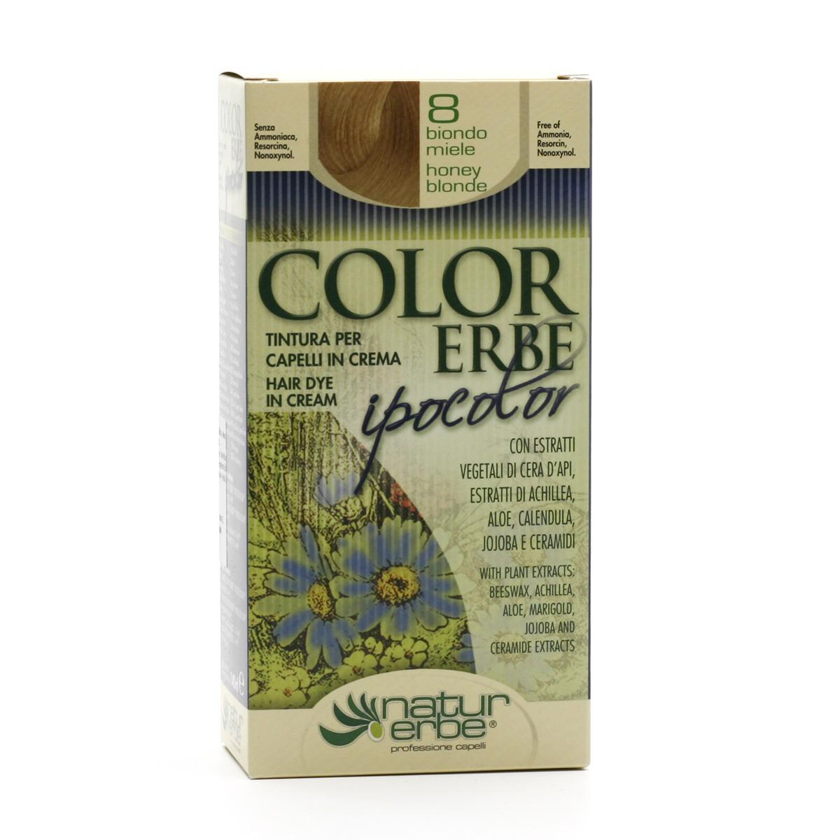 Color Erbe Barva na vlasy Medová blond 08, Ipocolor 140 ml