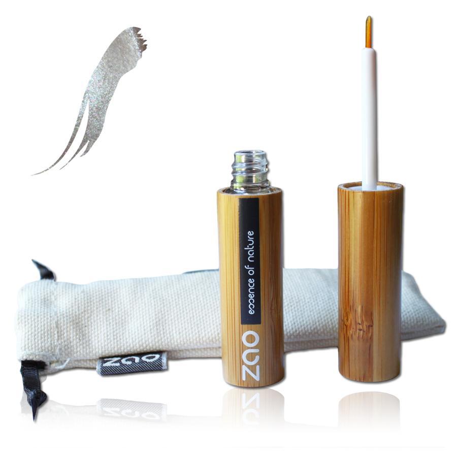 ZAO Tekuté oční linky 062 Silver 6 ml bambusový obal